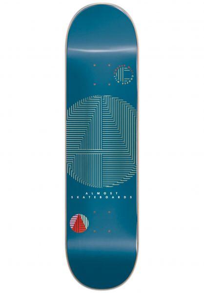 Almost Skateboard Decks Cooper A+ R7 blue Vorderansicht