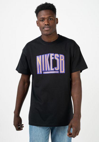 Nike SB T-Shirts Force black vorderansicht 0321788