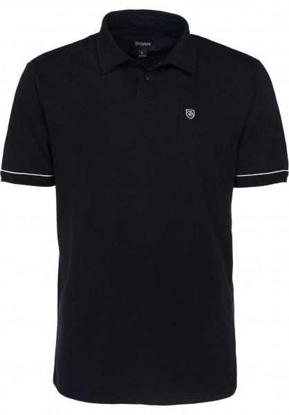 Brixton Polo-Shirts Carlos black Vorderansicht