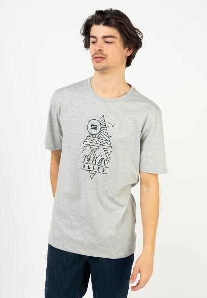TITUS T-Shirts Kolja heathergrey vorderansicht 0322002