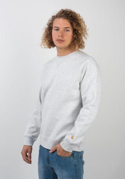 Carhartt WIP Sweatshirts und Pullover Chase ashheather-gold vorderansicht 0420832