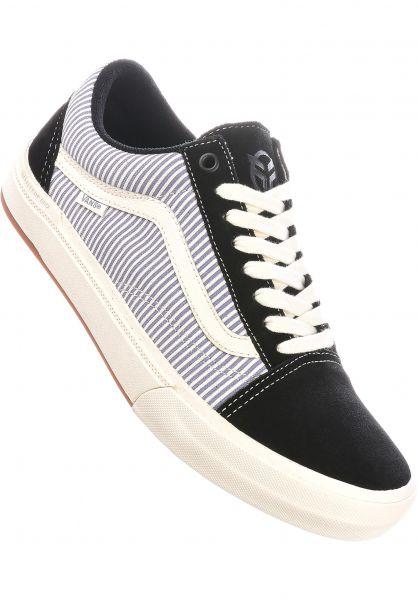 Vans Alle Schuhe Old Skool BMX black-blue-pinstripe vorderansicht 0604959