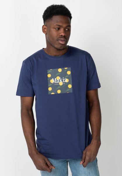 Makia T-Shirts Keltano blue vorderansicht 0321416