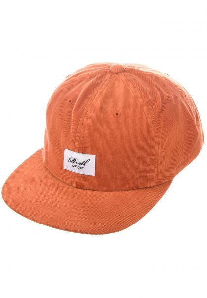 Reell Caps Flat 6 Panel orange-ribcord vorderansicht 0565010