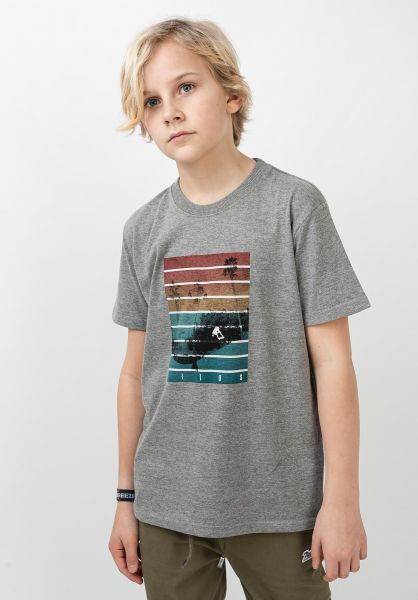 TITUS T-Shirts Sunset Trick Kids greymottled vorderansicht 0398388