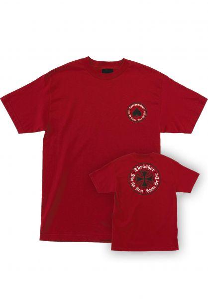 Independent T-Shirts Thrasher Oath S/S Independent cardinalred vorderansicht 0399023