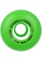 Powell-Peralta Rollen Mini Cubic 95A green Vorderansicht