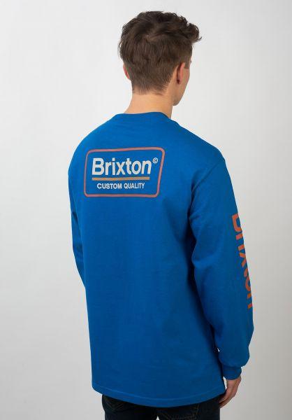 Brixton Longsleeves Palmer II royal vorderansicht 0383518