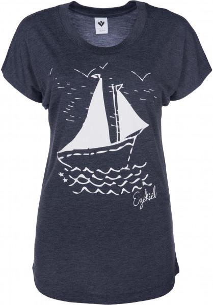 Ezekiel T-Shirts Boat Dolman heathernavy Vorderansicht