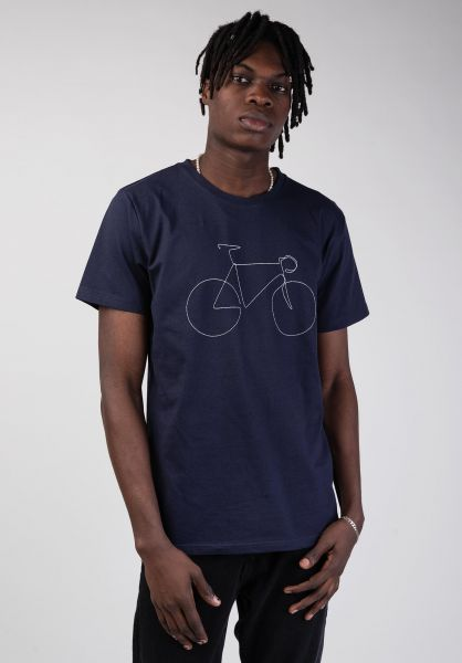 Dedicated T-Shirts Stockholm Bicycle estateblue vorderansicht 0399368