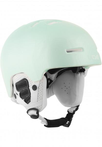TSG Snowboardhelme Arctic Nipper Maxi Solid Color gloss-turquoise Vorderansicht