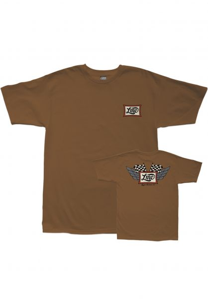 Loser-Machine T-Shirts Competition Pigment brown Vorderansicht