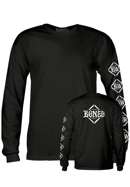 Bones Wheels Longsleeves Diamond black vorderansicht 0383593