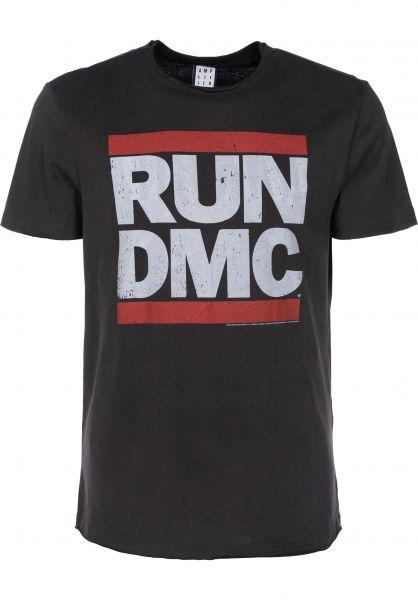 0ba0eff5 Run DMC Logo Amplified T-Shirts in charcoal for Men | Titus