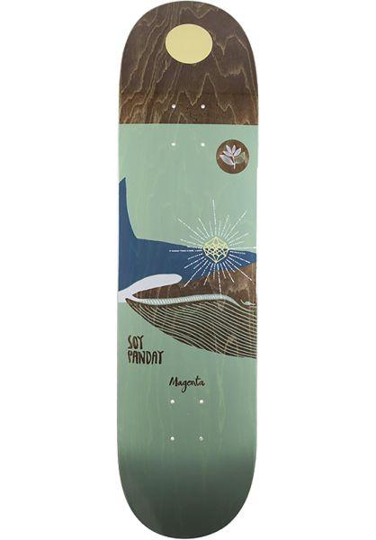 Magenta Skateboard Decks Soy Panda Ocean green vorderansicht 0260721