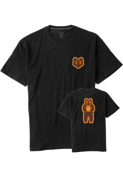 Habitat T-Shirts Grizzly Logo black vorderansicht 0320581