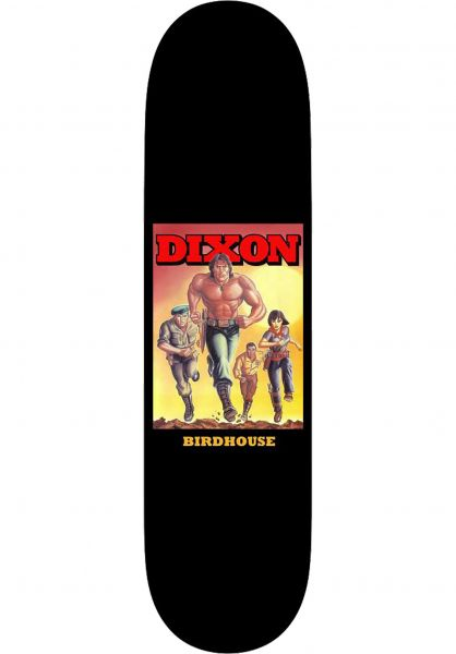 Birdhouse Skateboard Decks Dixon ´Bo black vorderansicht 0263204