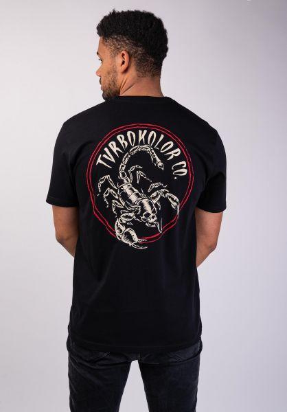 Turbokolor T-Shirts Scorpio black vorderansicht 0320192