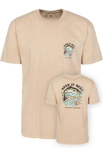 Neff T-Shirts Keep It Real Pigment twill vorderansicht 0399423
