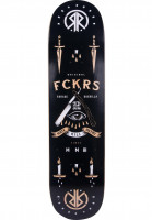 Rebel-Rockers-Skateboard-Decks-FCKRS-black-Vorderansicht
