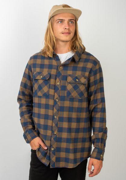 Billabong Hemden langarm All Day Flannel darkearth vorderansicht 0411447