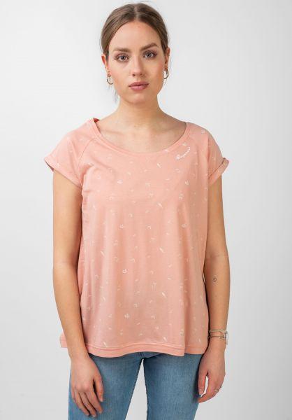 Ragwear T-Shirts Zilda Organic peach vorderansicht 0321154