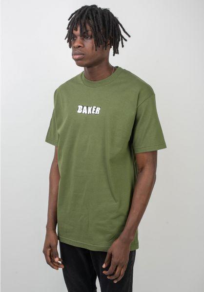Baker T-Shirts Brand Logo military-green vorderansicht 0383207