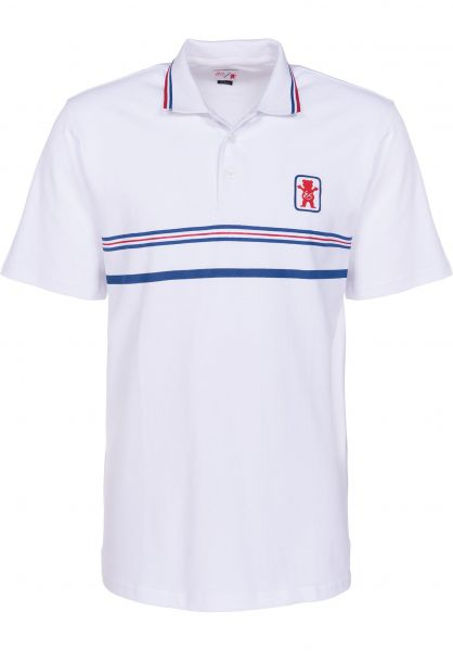 ES Polo-Shirts Court Classic Polo x Grizzly white Vorderansicht