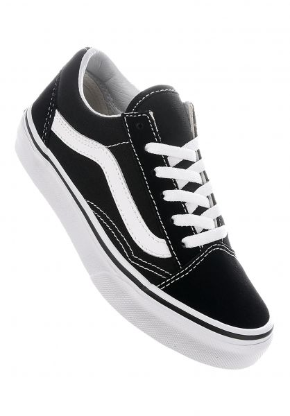Vans Alle Schuhe Old Skool Kids black-white vorderansicht 0216057