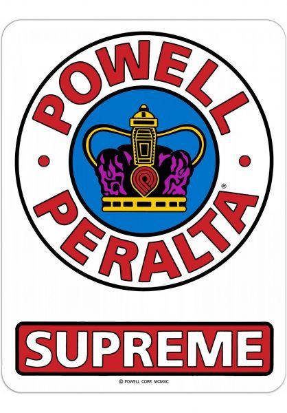 """Powell-Peralta Verschiedenes Supreme OG 12"""" Ramp Sticker clear Vorderansicht"""