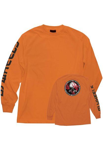 OJ Wheels Longsleeves Eric Dressen Skull orange vorderansicht 0383425