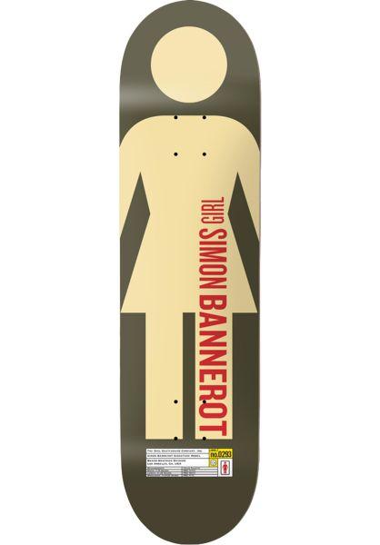 Girl Skateboard Decks Bannerot Grid OG olive vorderansicht 0263180