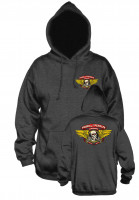 Powell-Peralta Hoodies Winged Ripper Medium Weight charcoal Vorderansicht