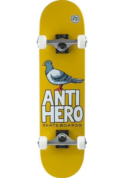 Anti-Hero Kinder Skateboard komplett Pigeon Hero Mini yellow vorderansicht 0162259