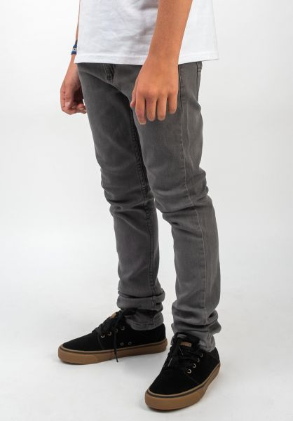 TITUS Hosen und Jeans Tube Fit Kids stonegrey vorderansicht 0540901