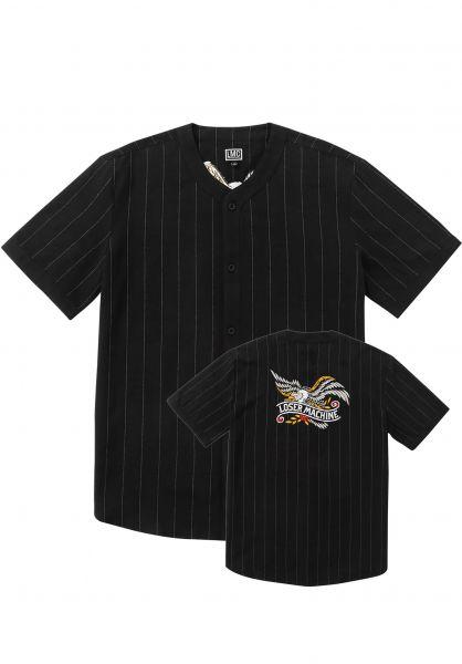 Loser-Machine Hemden kurzarm Toros black vorderansicht 0322723
