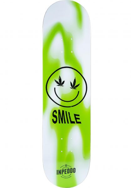 Inpeddo Skateboard Decks Smile Bright green vorderansicht 0261536