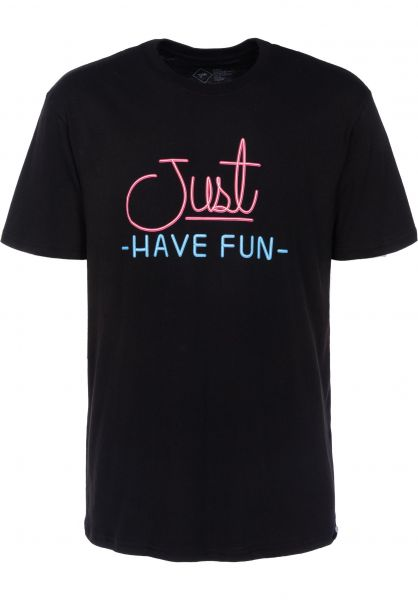 Just Have Fun T-Shirts Always Lit black Vorderansicht