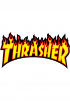 Thrasher-Verschiedenes-Flame-Sticker-Medium-yellow-Vorderansicht