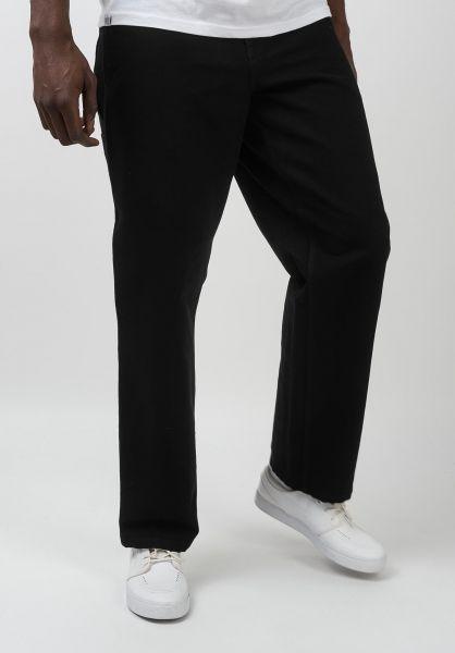 Carhartt WIP Chinos und Stoffhosen Single Knee Pant blackrinsed vorderansicht 0540249