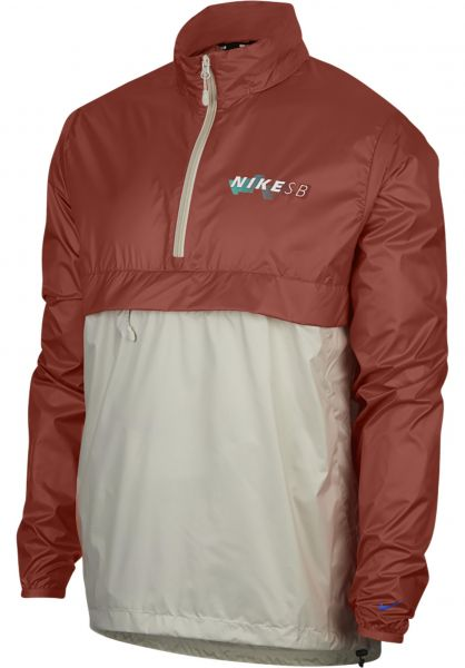 Nike SB Windbreaker Anorak Pack Hood vintagecoral Vorderansicht