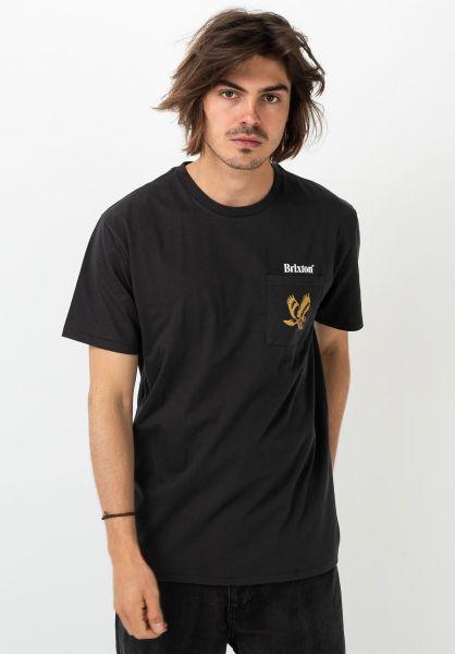 Brixton T-Shirts Descent II washedblack vorderansicht 0321812