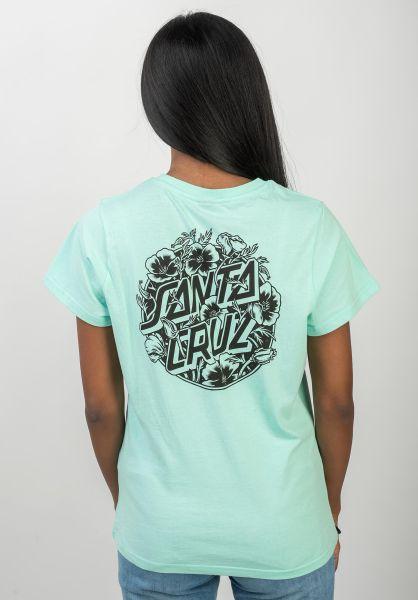 Santa-Cruz T-Shirts Cali Poppy bubblegumblue vorderansicht 0320355