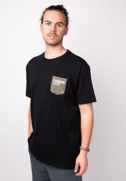TITUS T-Shirts Quote Pocket black vorderansicht 0398350