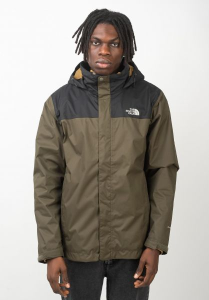 The North Face Winterjacken Evolve II Triclimate newtaupegreen-britishkhaki vorderansicht 0250106