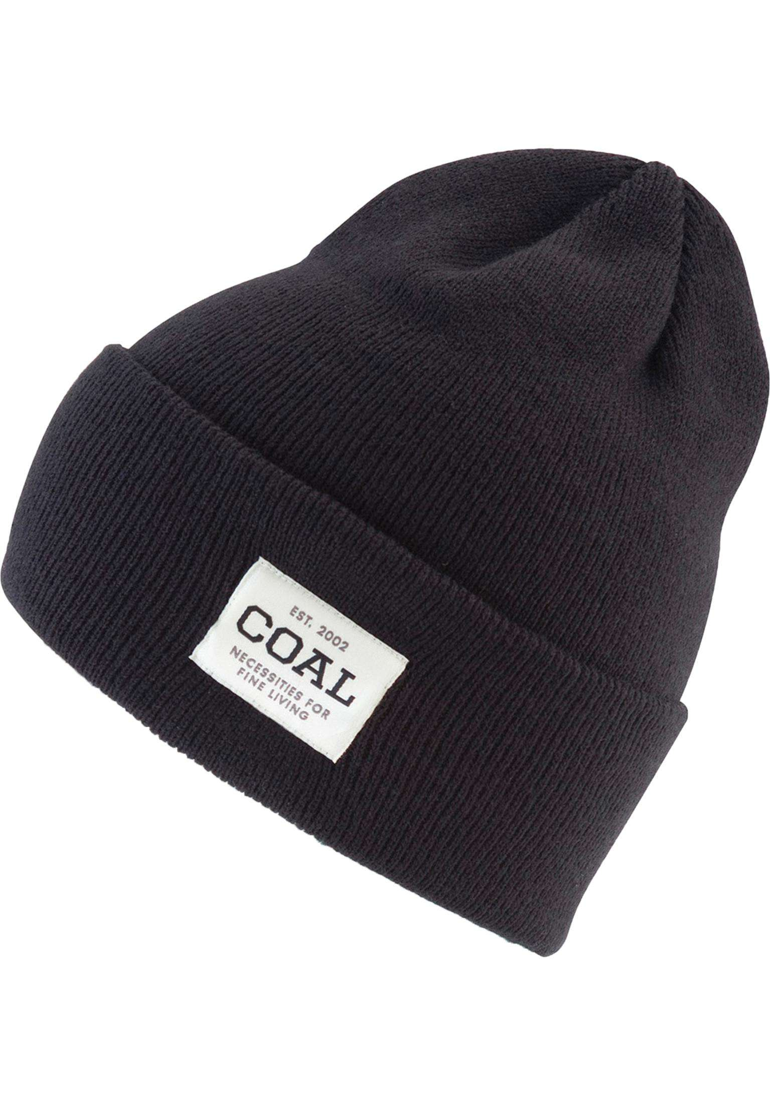 The Uniform coal Beanies in solid-black for Men  a0f80e106547