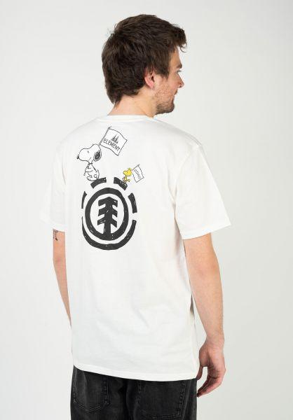 Element T-Shirts x Peanuts Slide offwhite vorderansicht 0323342