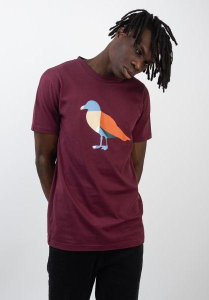 Cleptomanicx T-Shirts Gullorama windsorwine vorderansicht 0320583