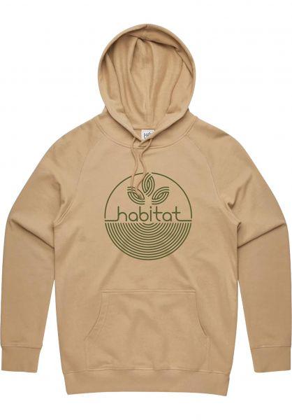 Habitat Hoodies Leaf Dot 3D tan vorderansicht 0446270