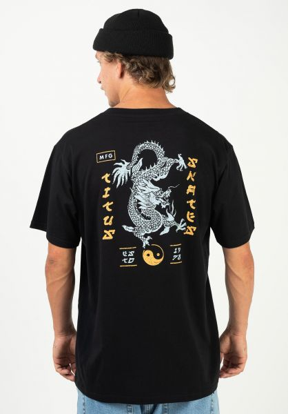 TITUS T-Shirts Dragon black vorderansicht 0320911